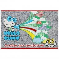 Альбом для рисования «Hello Kity» НКО-АА-12-4, 12 листов.