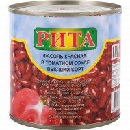 Фасоль красная «Rita» в томатном соусе, 400 г.