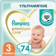 Подгузники «Pampers» Premium Care, размер 3, 6-10 кг, 74 шт.