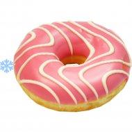 Пончик «Donut Pink» с начинкой со вкусом клубники, 65 г.