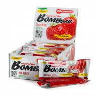 Батончик неглазированный «Bombbar» Strawberry, 60 г.