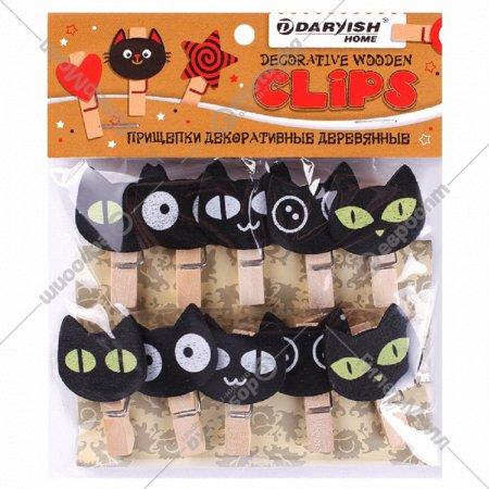 Прищепки декоративные «Черный кот» 10 шт.