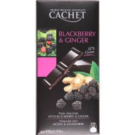 Горький шоколад c ежевикой и имбирем 57%, 100 г.