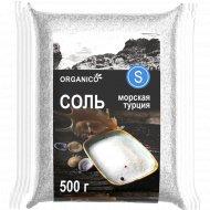 Соль морская пищевая «Organico» мелкая, 500 г.