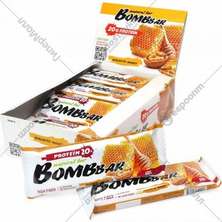 Батончик неглазированный «Bombbar» Walnut-honey, 60 г.