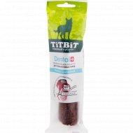 Трубочка для собак крупных пород «TiTBiT ДЕНТАЛ+» с бараниной, 40 г.
