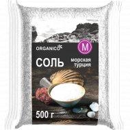 Соль морская пищевая «Organico» средняя, 500 г.