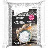 Соль морская пищевая «Organico» очень крупная, 500 г.