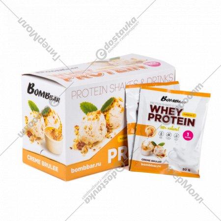 Концентрат сухой «Bombbar whey protein» крем-брюле, 30 г.