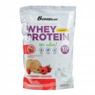 Концентрат сухой «Bombbar whey protein» малиновое печенье, 900 г.
