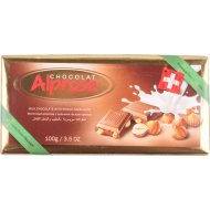 Молочный шоколад «Alprose» с цельным лесным орехом, 100 г.