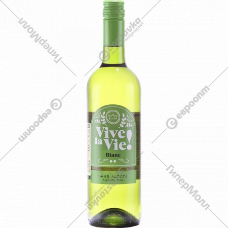 Вино виноградное «Vive La Vie»безалкогольное, белое, 0.75 л.
