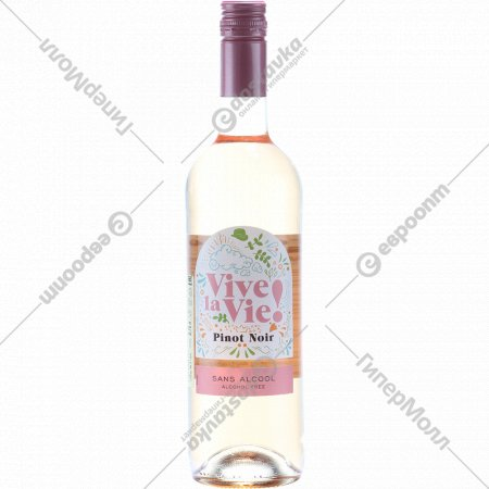 Вино виноградное «Vive La Vie Pinot Noir» розовое, 0.75л.
