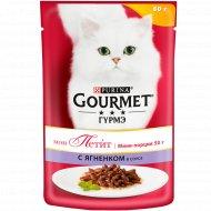 Корм для кошек «Gourmet» с ягненком, 50 г.