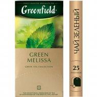 Чай зеленый «Greenfield» Green Melissa, 25 пакетиков.