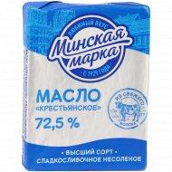 Масло сладкосливочное «Минская марка» Крестьянское, несоленое, 72.5%, 180 г