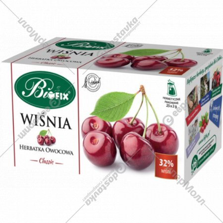 Фруктовый чай «Bifix» вишня, 25 пакетиков х 2 г.