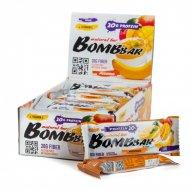 Батончик неглазированный «Bombbar» Pudding, манго-банан, 60 г.