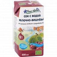 Сок яблочно-вишневый «Fleut Alpine» с водой, 200 мл
