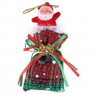 Подвеска новогодняя «Санта на мешке».