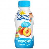 Йогурт питьевой «Агуша» персик 2.7 %, 200 г