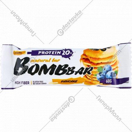 Батончик неглазированный «Bombbar» Pancake, 60 г.