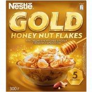 Хлопья кукурузные «Nestle» Gold» с медом и арахисом, 300 г.