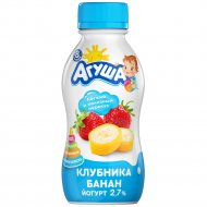Йогурт питьевой «Агуша» клубника-банан 2.7 %, 200 г
