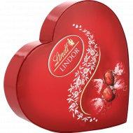 Конфеты «Линдор» HEART молочный шоколад с мягкой начинкой, 160 г.