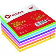 Бумага для заметок «Optima» неон 50х50мм, 250 листов.