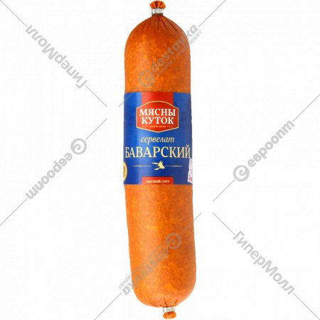 Колбаса варено-копченая «Сервелат Баварский» высший сорт, 1 кг., фасовка 0.55-0.75 кг