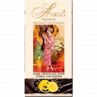 Горький шоколад «Ameri» 57% с лимоном и черным перцем, 100 г.