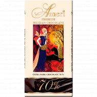 Горький шоколад «Ameri» 70% какао, 100 г.