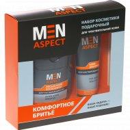 Набор подарочный «Men Aspect» крем для бритья 85 г + лосьон-тоник 140 мл.