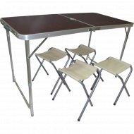 Комплект садовой мебели «Mon Ami» складной стол+стулья, SJ-8812-4