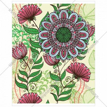 Тетрадь «Арт-ботаника» клетка, AN-4884/5, 48 листов.