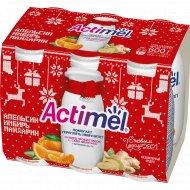 Продукт кисломолочный «Actimel» 2.5%, апельсин-имбирь-мандарин, 600 г.