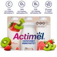 Продукт кисломолочный «Actimel» c киви и клубникой, 2.5 %, 600 г.