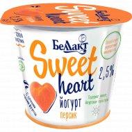 Йогурт «Sweet heart» персик, 2.5%, 150 г.
