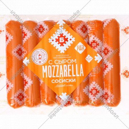 Сосиски из мяса птицы с сыром моцарелла, 370г.