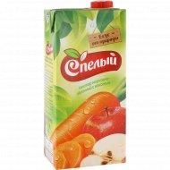 Нектар «Спелый» морковно-яблочный, с мякотью, 1 л.