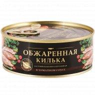 Килька обжаренная «За Родину» в томатном соусе, 240 г.