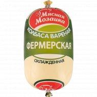 Колбаса вареная «Фермерская» высшего сорта, 1 кг, фасовка 0.7-0.8 кг