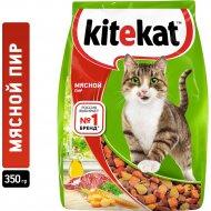 Корм для кошек «Kitekat» мясной пир, 350 г.