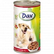 Корм для собак «Dax» кусочки с говядиной, 1.24 кг.