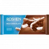 Шоколад молочный «Roshen» с кокосовой нугой, 90 г.