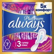 Ультратонкие прокладки «Always» platinum ultra super plus, 7 шт.