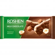 Шоколад молочный «Roshen» с ореховой нугой, 90 г.