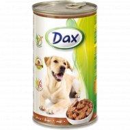 Корм для собак «Dax» кусочки с печенью, 1.24 кг.