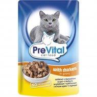 Паучи для кошек «PreVital classic for Cats» с курицей в соусе, 100 г
